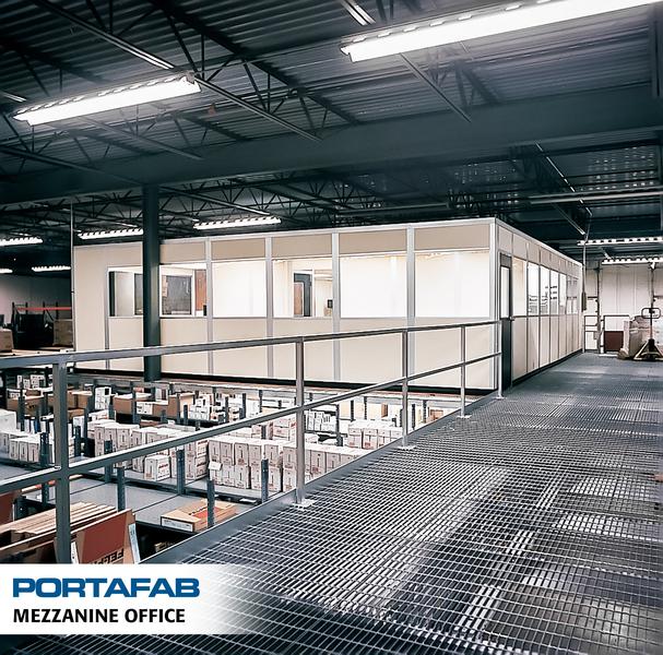 portafab modular mezzanine office