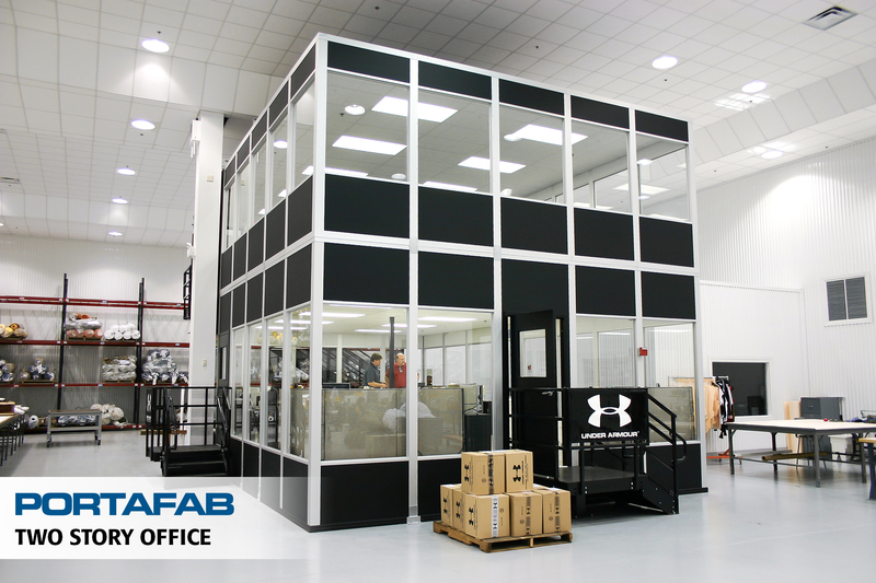 portafab two story modular in-plant office